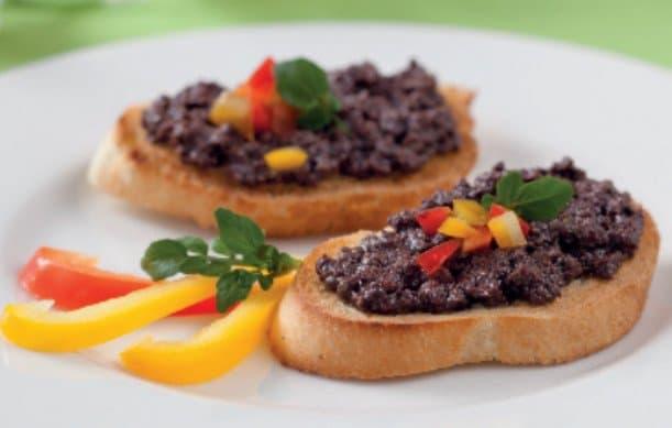 bruschette con olive