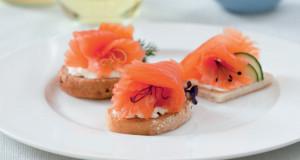 I crostini con salmone