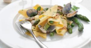lasagne asparagi e vongole