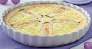 Torta salata con formaggio e porri