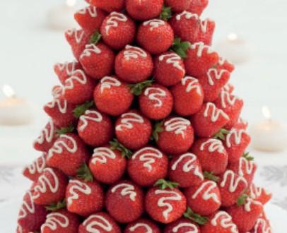 Albero di Natale con fragole