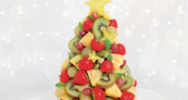 Ricetta albero di natale con la frutta fresca for Ricette cucina semplici